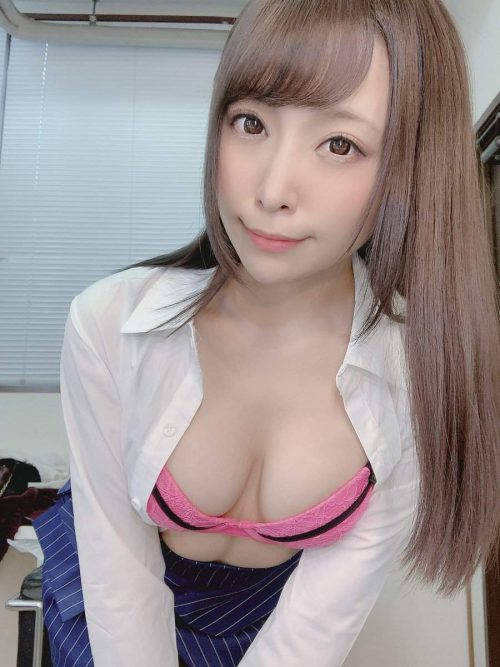 あざとかわいいAV女優加藤ももかの自撮りエロ画像18